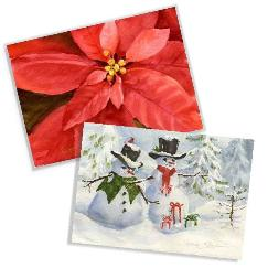 Assorted Holiday / Christmas Watercolor Cards