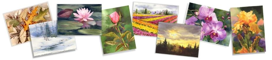 Watercolor Greeting Cards and Note Cards by Susie Short