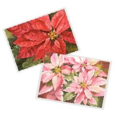 Poinsettia Watercolor Cards