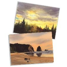 Sunrises and Sunsets Watercolor Cards